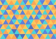 Tło z trójbokami cztery koloru Obraz Stock