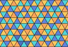 Tło z trójbokami w cztery kolorach Fotografia Royalty Free