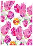 Tło z tulipanów kwiatów menchiami Fotografia Royalty Free