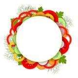 Tło z warzywami i zieleniami Obrazy Royalty Free