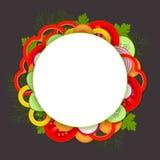 Tło z warzywami i zieleniami Fotografia Stock