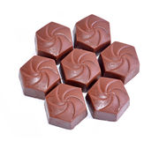 tło zakazuje czekoladowego biel Zdjęcie Stock