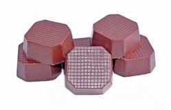 tło zakazuje czekoladowego biel Zdjęcia Stock