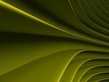 Tło zielone abstrakcjonistyczne fala render Zdjęcia Stock
