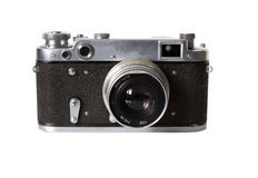 tła odosobniony stary photocamera biel Zdjęcie Stock