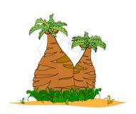 tła odosobnionych drzewek palmowych tropikalny v biel Zdjęcia Royalty Free
