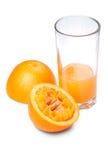 T-Orange und Saft Lizenzfreie Stockbilder
