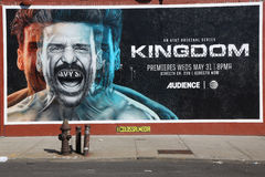 An AT&T original series Kingdom premiere advertising in Brooklyn Stock Photos