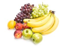 tła owoc mieszanki biel Fotografia Stock