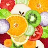 tła owoc warzywa Zdjęcia Stock
