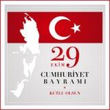 29t Październik republiki Krajowy dzień Turcja Zdjęcia Royalty Free