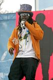 T-Pain performs in concert. At the Tailgate 2009 fan zone prior to Super Bowl XLIII featuring the Arizona Cardinals vs. the Pittsburgh Steelers at Raymond James royalty free stock photography