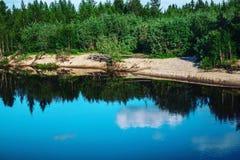 For?t par le lac photos stock