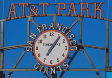 AT&T Park--Getting Ready for Game Time Stock Images