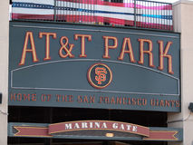 AT&T Park Home of the Giants - Sign Royalty Free Stock Photo