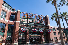 AT&T Park in San Francisco, California Stock Images