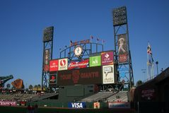 AT&T Park Scoreboard Royalty Free Stock Image
