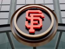 AT&T parken - Haupt vom Giants - SF-Logo Stockbilder