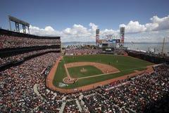 AT&T parkerar, returnerar av Sanen Francisco Giants fotografering för bildbyråer