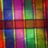 tła plamy bokeh cyfrowy film Zdjęcia Stock