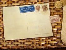 tła pocztówki rocznik Zdjęcia Royalty Free