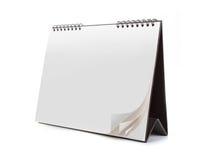 tła pustego miejsca kalendarza odosobniony biel Fotografia Stock