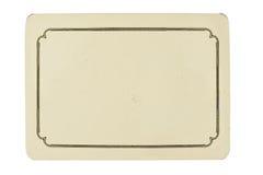tła pustej karty odosobniony rocznika biel Obraz Stock