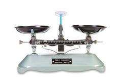 tła równowagi skala rocznika biel Zdjęcia Royalty Free