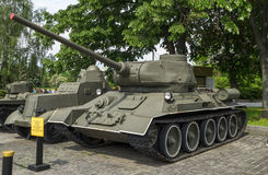T-34-85 Radziecki Średni zbiornik Obrazy Stock