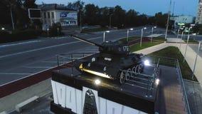 T-34 Radzieckiego wojska Batalistycznego zbiornika Średni Pamiątkowy zabytek przy nocą Obraz Royalty Free