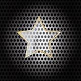 tła ramowy szklany metalu gwiazdy wektor Fotografia Stock