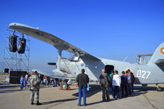 An-2T źrebaka samolotu statyczny pokaz Zdjęcia Stock