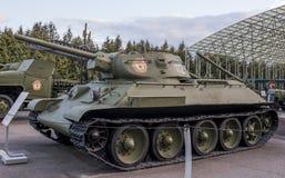 T-34- Średni zbiornik (USSR) Obraz Royalty Free