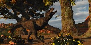 T-Rex反抗 向量例证