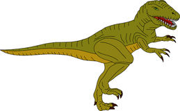 T-rex. Vector -  color t-rex isolated on background Royalty Free Stock Photography