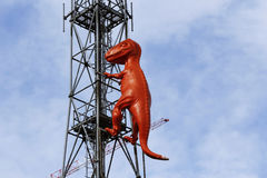T rex antenna. In the city Stock Photo