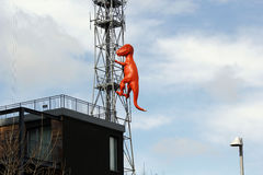 T rex antenna. In the city Stock Photos