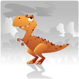 T-rex dinosaur. Artoon t-rex dinosaur. Vector Illustration clip art Stock Photography