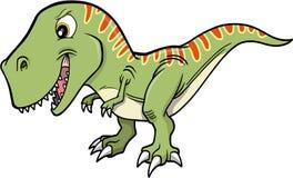 T-Rex Dinosaur. Big Green Cute T-Rex Dinosaur Royalty Free Stock Images