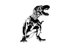 T-rex Dinosaur ,Ancient animals.  Royalty Free Stock Images