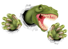 T Rex Dinosaur Claws Tearing illustration stock