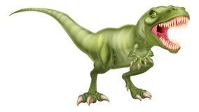 T Rex Dinosaur. An illustration of a fierce tyrannosaurs rex dinosaur roaring Stock Photos
