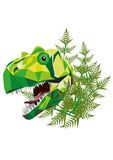 T. Rex Dinosaur in polygonal technique - Illustration Stock Images
