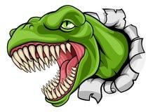 T Rex Dinosaur Ripping Through Background illustration de vecteur