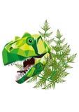 T Rex dinosaur w poligonalnej technice - ilustracja Obrazy Stock