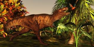 T-Rex Dschungel Lizenzfreie Stockfotos