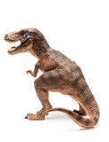 T rex. Figurine on White Background stock image