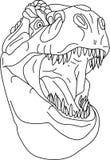 T-rex head Stock Image