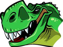 T-rex head royalty free stock photography