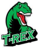 T-rex maskot Arkivfoto
